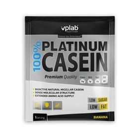 Протеин VPLAB 100% Platinum Casein sachet / 30 g / банан
