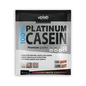 Протеин VPLAB 100% Platinum Casein sachet / 30 g / малина-белый шоколад