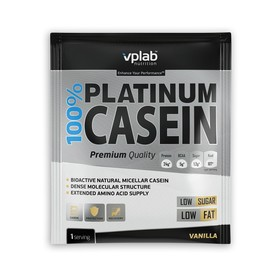 Протеин VPLAB 100% Platinum Casein sachet / 30 g / ваниль