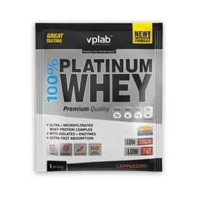 Протеин VPLAB 100% Platinum Whey sachets / 30 g / капучино