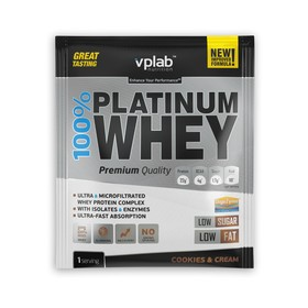 Протеин VPLAB 100% Platinum Whey sachets / 30 g / крем печенье