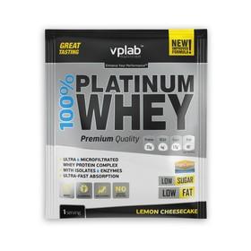 Протеин VPLAB 100% Platinum Whey sachets / 30 g / лимонный чизкейк