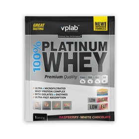 Протеин VPLAB 100% Platinum Whey sachets / 30 g / малина-белый шоколад