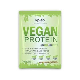 Протеин VPLAB Vegan Protein sachets / 30 g / шоколад карамель