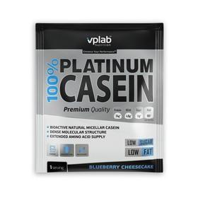 Протеин VPLAB 100% Platinum Casein sachet / 30 g / черничный чизкейк