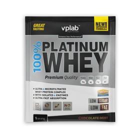 Протеин VPLAB 100% Platinum Whey sachets / 30 g / шоколад мята
