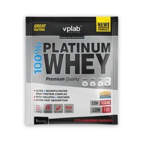 Протеин VPLAB 100% Platinum Whey sachets / 30 g / клубника банан