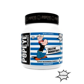 POPEYE Supplenments Creatin Monohydrate, Jar 500g (Unflavored)