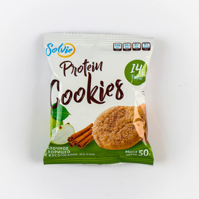 """Печенье протеиновое Solvie """"Яблоко-корица"""" 50 гр"""