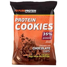 Печенье Protein Cookies, шоколад с кусочками шоколада, 12 шт.