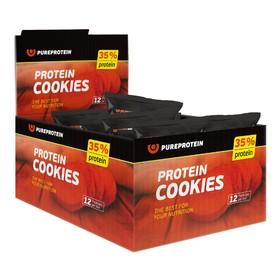 Печенье Protein Cookies, арахис, мед, шоколад, 12 шт.