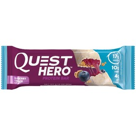 Батончики Quest Hero Bar Blueberry Cobbler, черника,