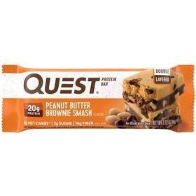 Батончики QuestBar Peanut Butter Brownie Smash, брауни с арахисовой пастой