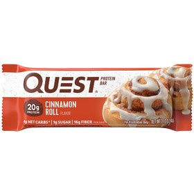 Батончики QuestBar  Cinnamon Roll, булочка с корицей