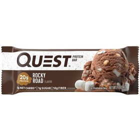 Батончики QuestBar Rocky Road, зефир, миндаль, шоколад