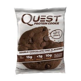 Печенье Quest Double Chocolate Cookie шоколадное с кусочками шоколада