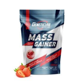 Гейнер MASS GAINER Geneticlab, клубника 10 порций/1000 г.