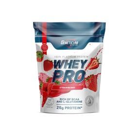 Протеин WHEY PRO Geneticlab, клубника 900 г.