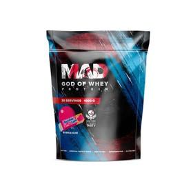 Протеин MAD GOD OF WHEY, (пакет) бабл-гам 1000 г .
