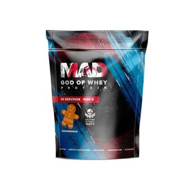 Протеин MAD GOD OF WHEY, (пакет ) имбирный пряник 1000 г.