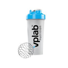 VPLAB Shaker 700 ml with blender ball / Голубая крышка